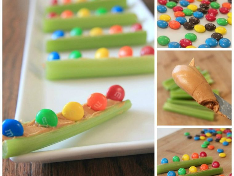 Celery Boats Rainbow Snack for kids - So yummy!
