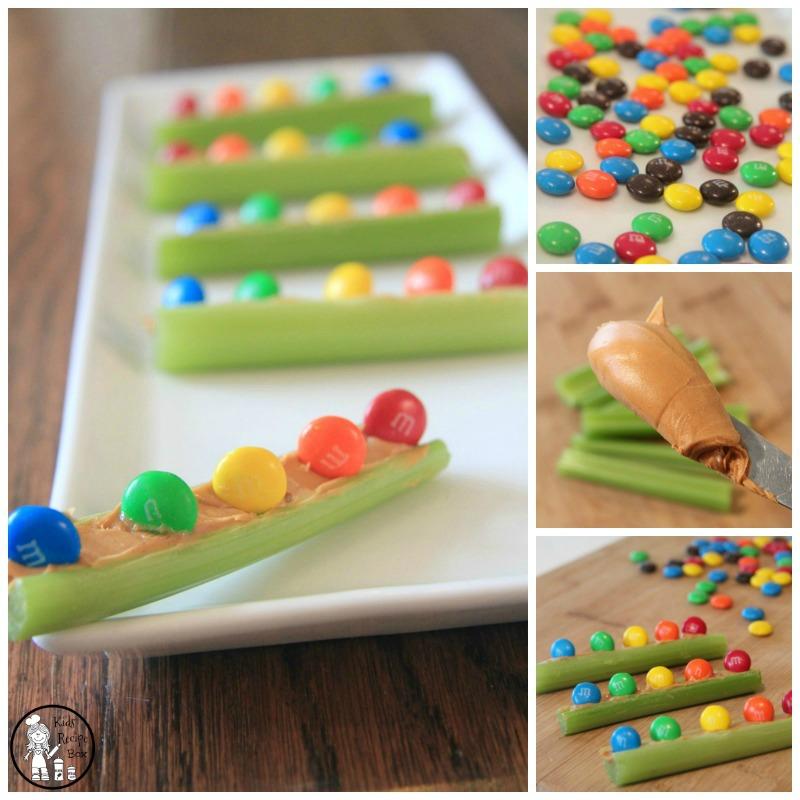 Celery Boats Rainbow Snack for kids - So yummy!