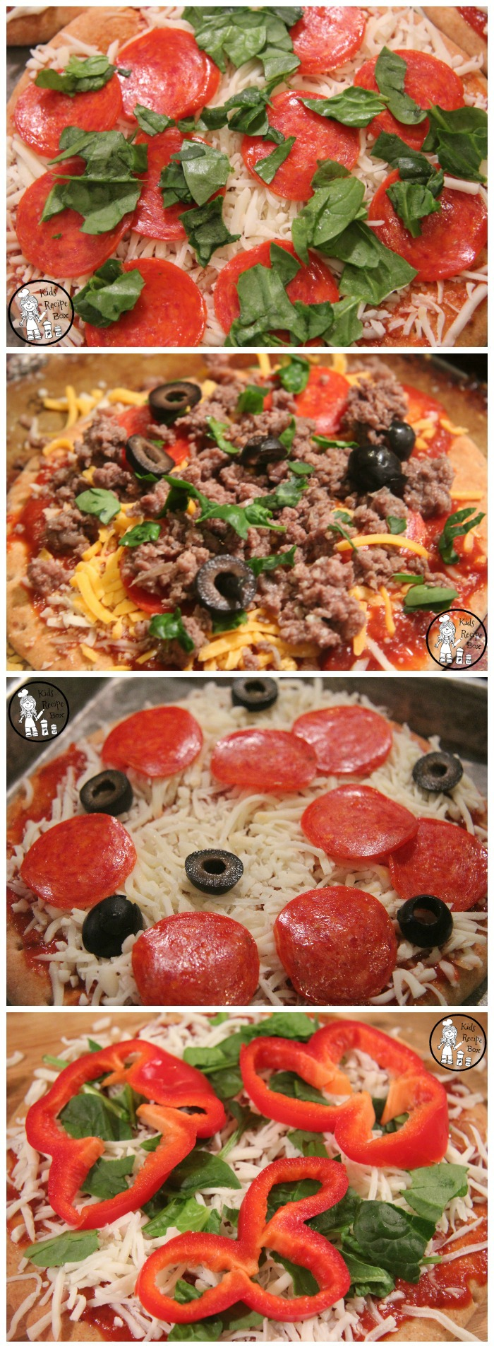 Easy Pita Bread Crust Personal Pizzas - Fast, easy and fun.