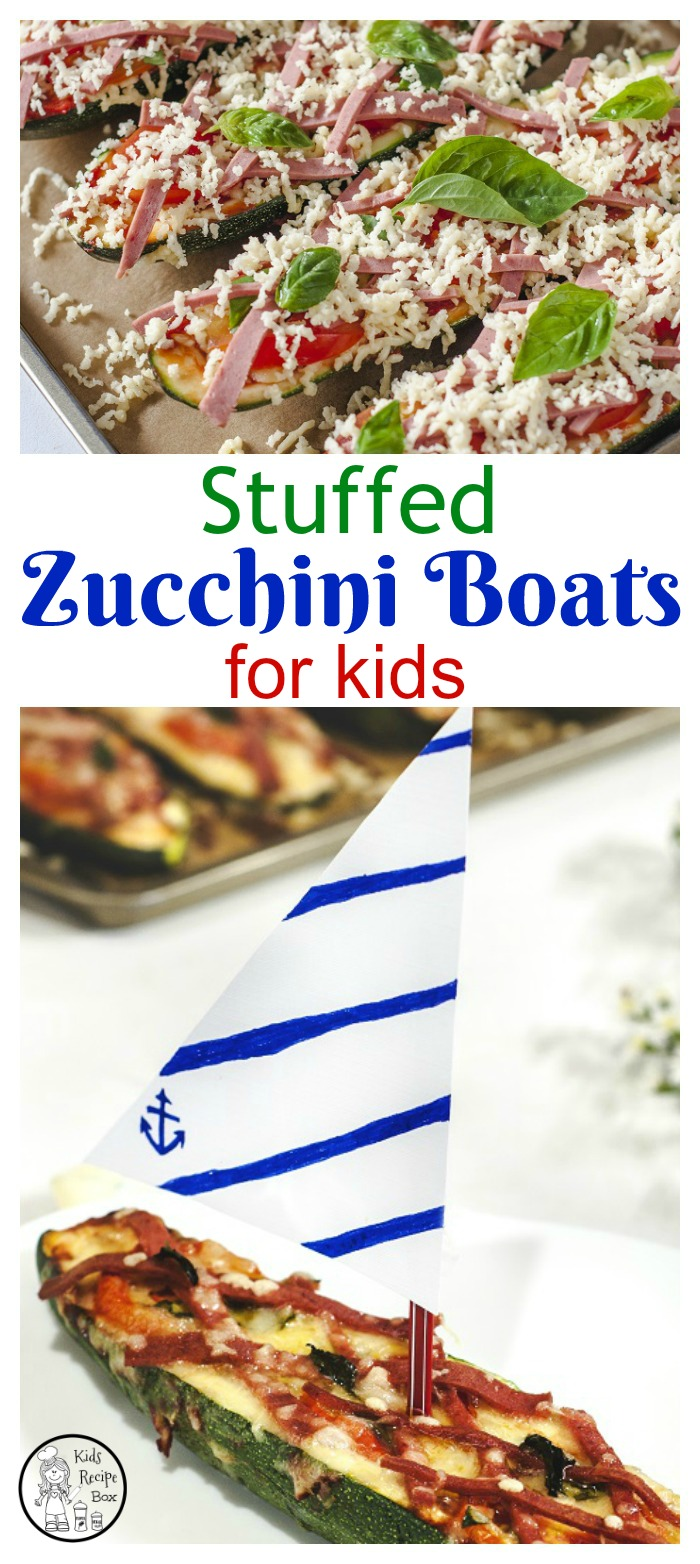 Stuffed Zucchini boats recipe for kids. - Fun make and eat recipe.