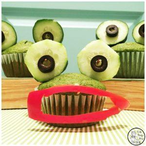 Wide Mouth Frog Spinach Muffins for kids.