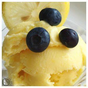 Lemon Blueberry homemade Ice Cream recipe.