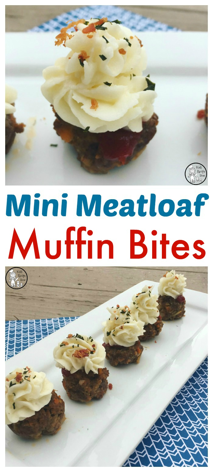 Mini Meatloaf Muffin Bites for kids.