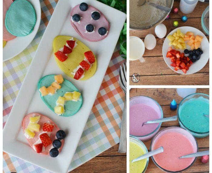 Pastel Easter Egg Pancakes