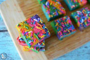 Rainbow Cookie Bars with Sprinkles