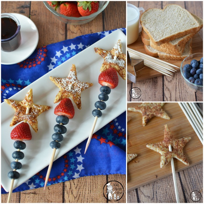 Delicious Patriotic French Toast Skewers