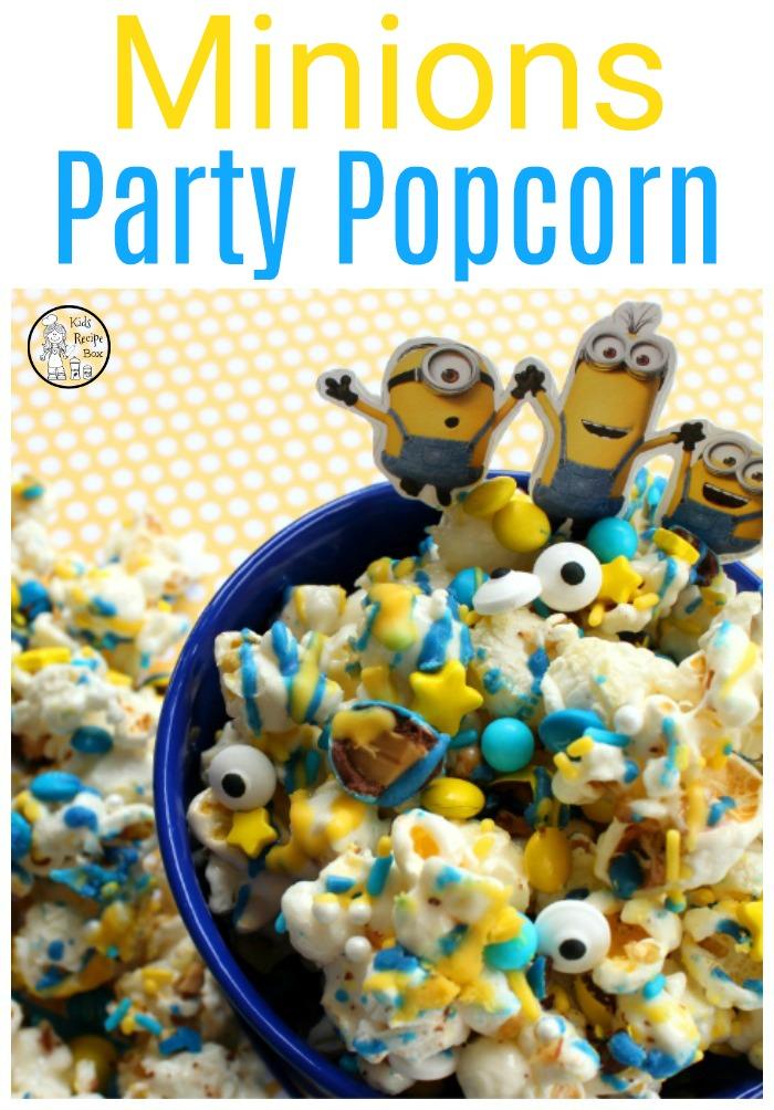 Minions Party Popcorn - Fun Minions Party idea.