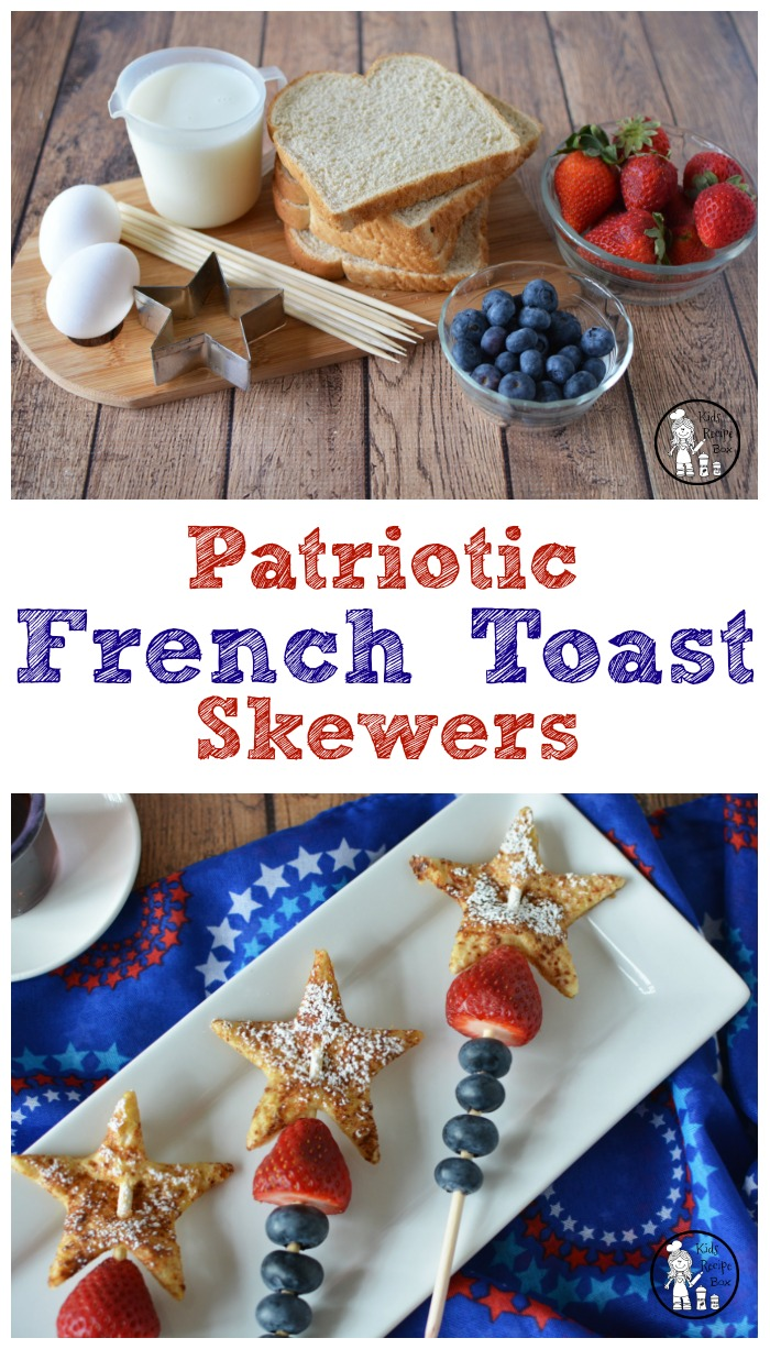 Patriotic French Toast for kids! Awesome 4th of July breakfast idea.