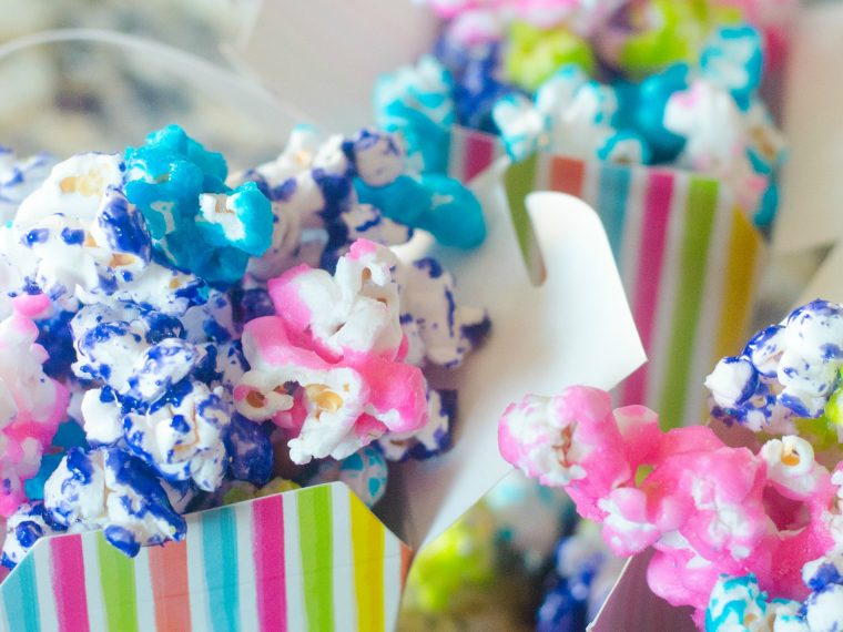 Candy Coated Popcorn Recipe - Rainbow Popcorn for Kids