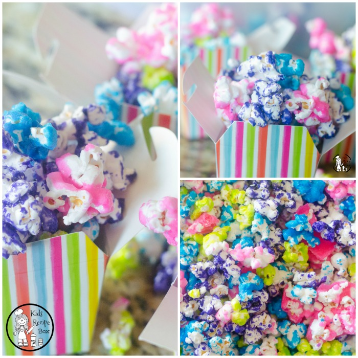 Unicorn Candy Coated Popcorn for Kids.