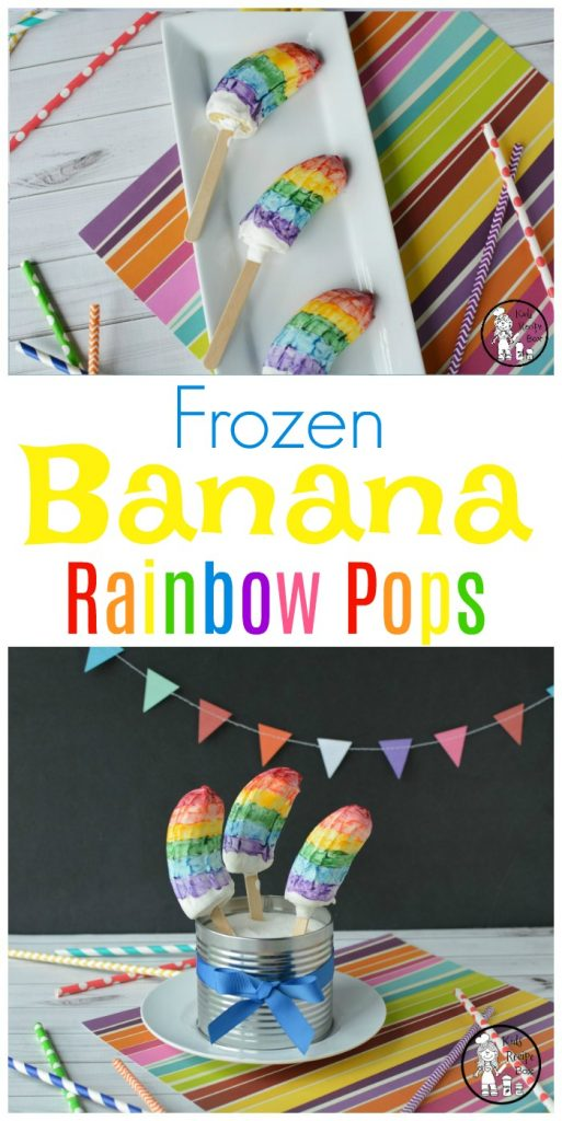 Rainbow Banana Popsicles - Healthy Treat for Kids